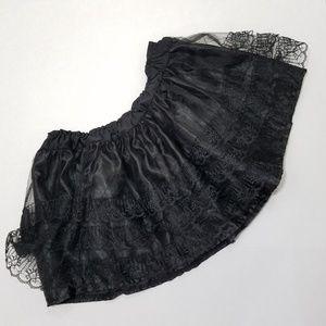 Dresses & Skirts - black lacy tutu skater skirt